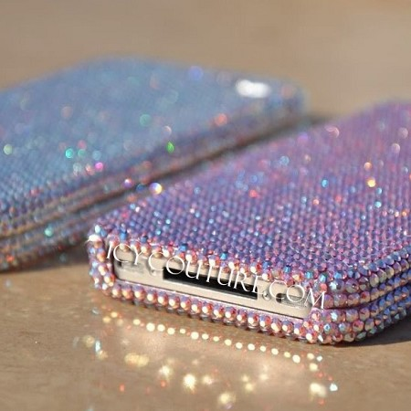 Solid Color of Your Chose Swarovski Crystals Phone Cover. Whats your model?