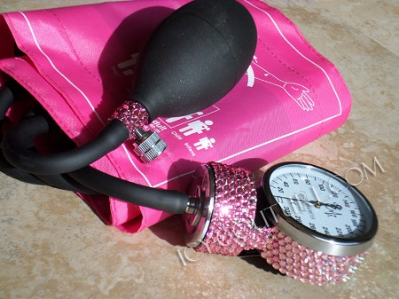 ICY PINK Deluxe Blood Pressure Monitor with Swarovski Crystals