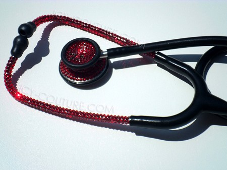 Black Red Edition Stethoscope with Swarovski Crystals. Whats Your Brand?