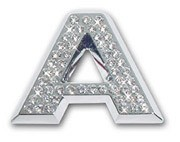 "Crystallized Letter ""A"""