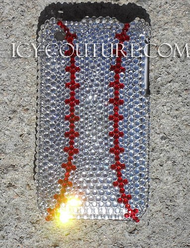 Baseball made with Swarovski Elements crystal phone cover. Bling Your Phone!