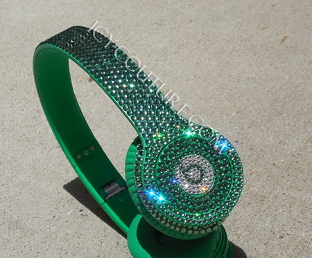 Beats by Dre Peridot Green Bling Headphones. Whats Your Color?