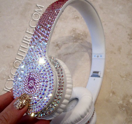 Reversed Pink Fading BLING Beats by Dre Bedazzled Headphones. Whats Your Colors?