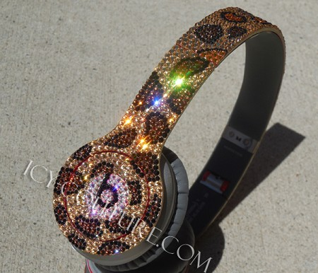 Leopard BLING BEATS by DRE with Swarovski Crystals