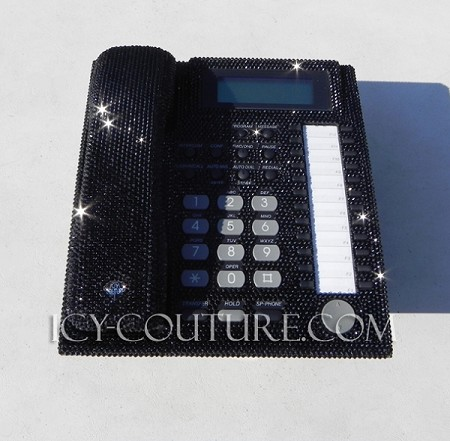 KIM KARDASHIAN ICY Couture Crystal Home Office Phone. Bling Your Desk Phone!