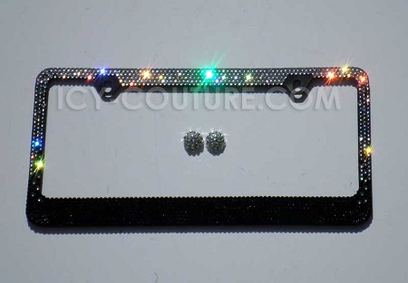 BLACK OMBRE - Swarovski Crystal License Plate Frame