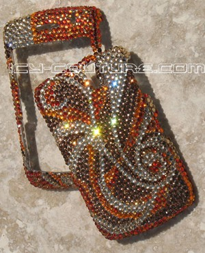 """Fall Expressions"" bedazzled Blackberry Curve phone cover"