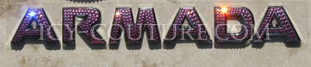 ARMADA Swarovski Crystal Car Letters! Whats your color?