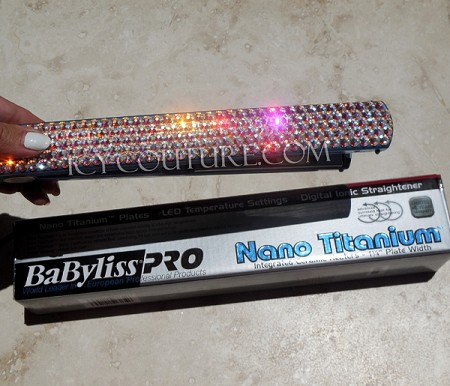 "Bling Fabulous 1"" Flat Iron with Swarovski Crystals"