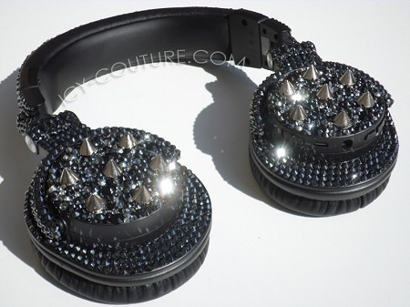 FIERCE Headphones Design with Swarovski Crystals & Spikes