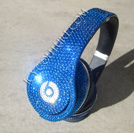 Capri Blue BLING Beats by Dre Bedazzled Headphones. Whats Your Color?