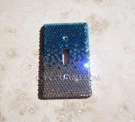 Single Light Switch Crystal Fading Cover Plate