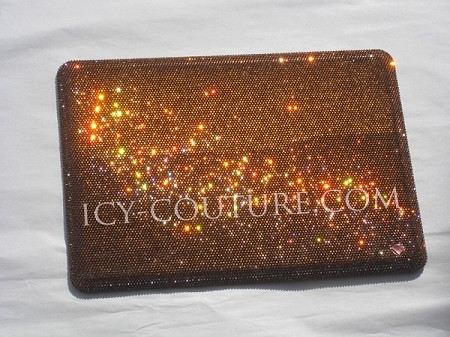 ICY COUTURE Classic Brown Swarovski Crystal Macbook Pro Cover.