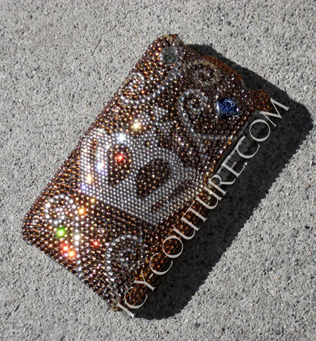Royal Highness Golden Swirls, Swarovski phone covers. Bling My Phone!