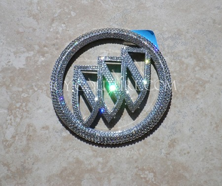 Custom ICY Couture Buick Emblems with Swarovski Bling! Whats Your Colors?