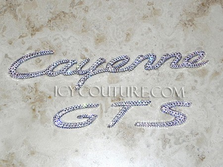 Icy Couture PORSCHE CAYENNE GTS Crystal Car Letters! Whats your color?