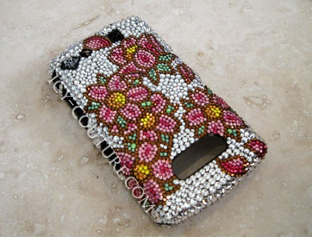 Cherry Blossom - Crystal phone cover. Bling Your Phone!