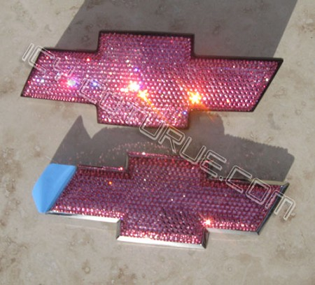 Most CHEVY Models Pink Bowtie Emblems. Select Your Set