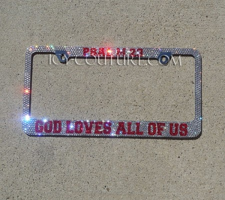 PSALM Message - Swarovski Crystal License Plate Frame