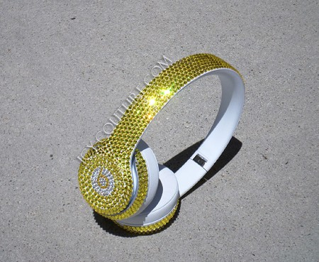 CITRINE Custom Bling BEATS, Swarovski crystals.  Whats Your Colors?