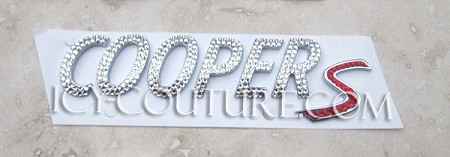 Bling COOPER S letters. Whats Your Color?