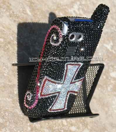 """Cross of Honor"" crystallized Palm Treo in Swarovski"