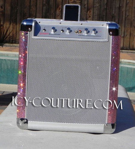 CRYSTAL BEDAZZLED BLING AMPLIFIER!