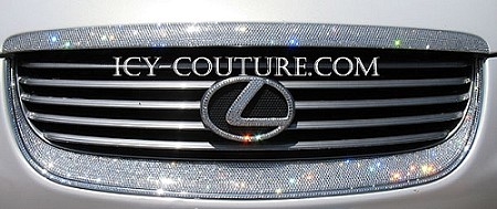 Fully ICED OUT with Swarovski Crystals Custom Auto Grill. Whats your car?