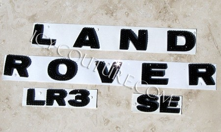 Crystal LAND ROVER letters