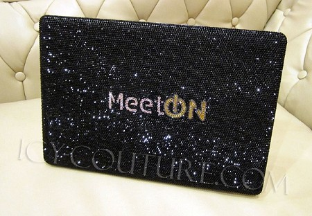 Bling Your Logo on a Laptop Cover with Swarovski Crystals! Whats Your Logo?