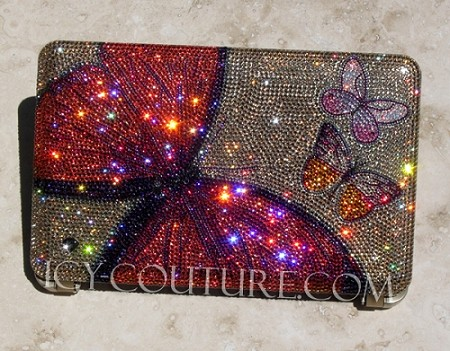Venetian Butterflies Bedazzled Crystal MacBook Cover with Swarovski Crystals