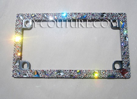 "Icy Couture Crystal MOTORCYCLE Frame ""Old Hollywood Glam"""