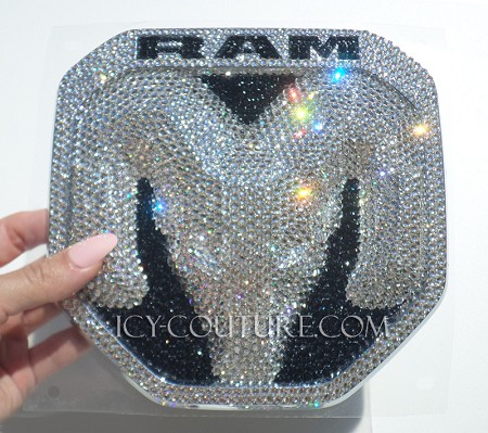 Crystallized  DODGE RAM emblems Swarovski crystals! Choose Your Set & Crystal Color!