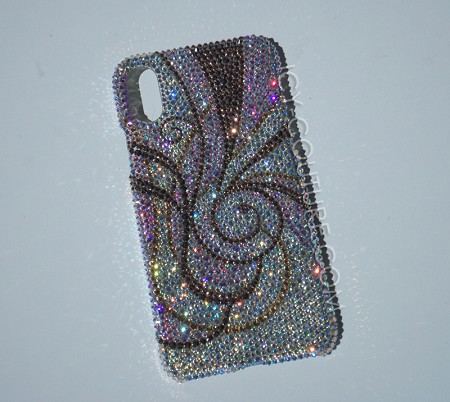 Crystal Shimmer Swirls ICY Couture Design Swarovski Crystals. Select Your Phone..