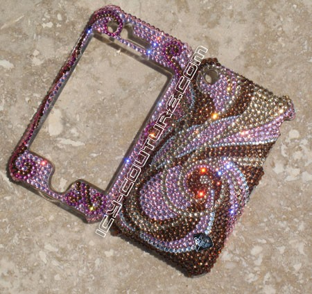 Crystal Swirls - Crystallized with Swarovski crystals phone covers. Bling My Phone!