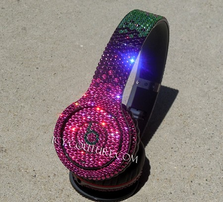 CUSTOM COLORS OMBRE Bling Beats Design Swarovski Crystals