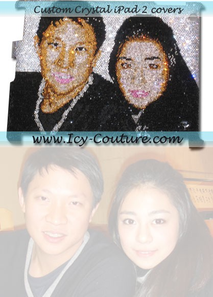 Your Own PORTRAIT - Crystal iPad Covers by ICY Couture.