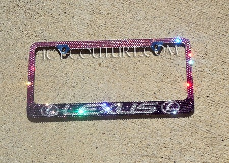 LEXUS Pink to Purple OMBRE Swarovski BLING License Plate Frame. Whats Your Colors?