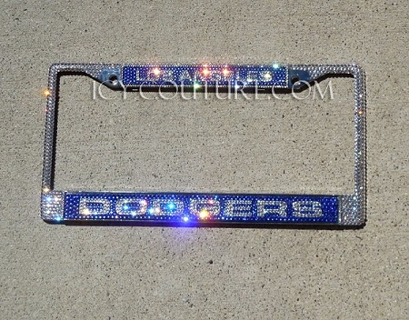 DODGERS FAN Swarovski BLING License Plate Frame. Whats ...