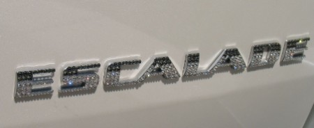 Cadillac Escalade letters with Swarovski Crystals. Whats Your Color?