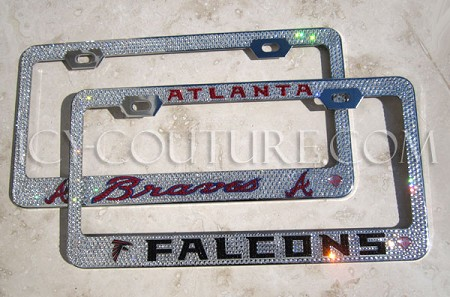 Falcons, Braves, or Your Other Favorite Sport Team - Custom Crystal License Plate Frame