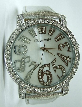 Bling-Bling Fashion Unisex Watch -  ICED Funky Numbers - Silver