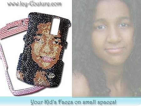 Your KIDS FACES on Small Spaces in Swarovski Crystals!