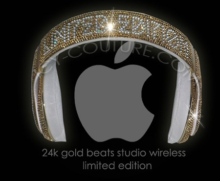 LIMITED EDITION 24K GOLD BEATS Swarovski Crystals