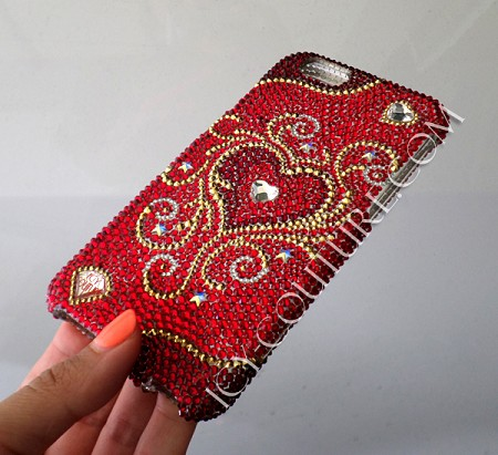 ULTIMATE LOVE - ICY Couture Swarovski Crystals iPhone Design. Whats Your Phone?