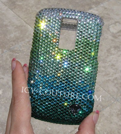 Fading Effect of Spring, Swarovski phone cover, here Blackberry Bold