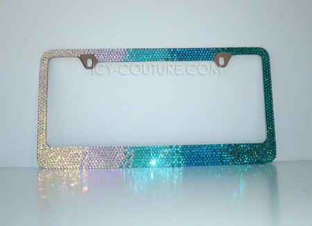 Build Your Own Horizontal Ombre License Plate Frame with Swarovski Crystals