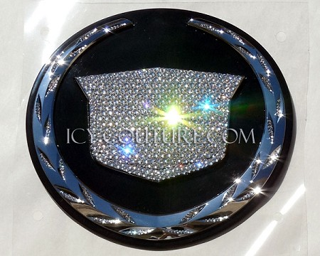 ICED OUT CADILLAC Emblem - Diamond Clear, or Blacked Out. Whats Your Color?