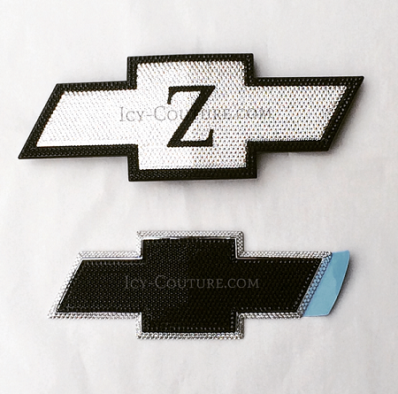 CUSTOM Initial Bling CHEVY Emblems. What your color? Bedazzled with Swarovski Crystals
