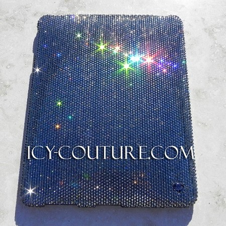 Solid color of your choice ICY Couture Swarovski Crystal iPad Cover Case. Whats your color?